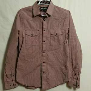 Express Fitted Small 14-14.5 Button down long Slee